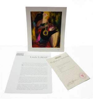 "Linda Le Kinff-""Note d'Or"" Signed Seriolitograph with COA"