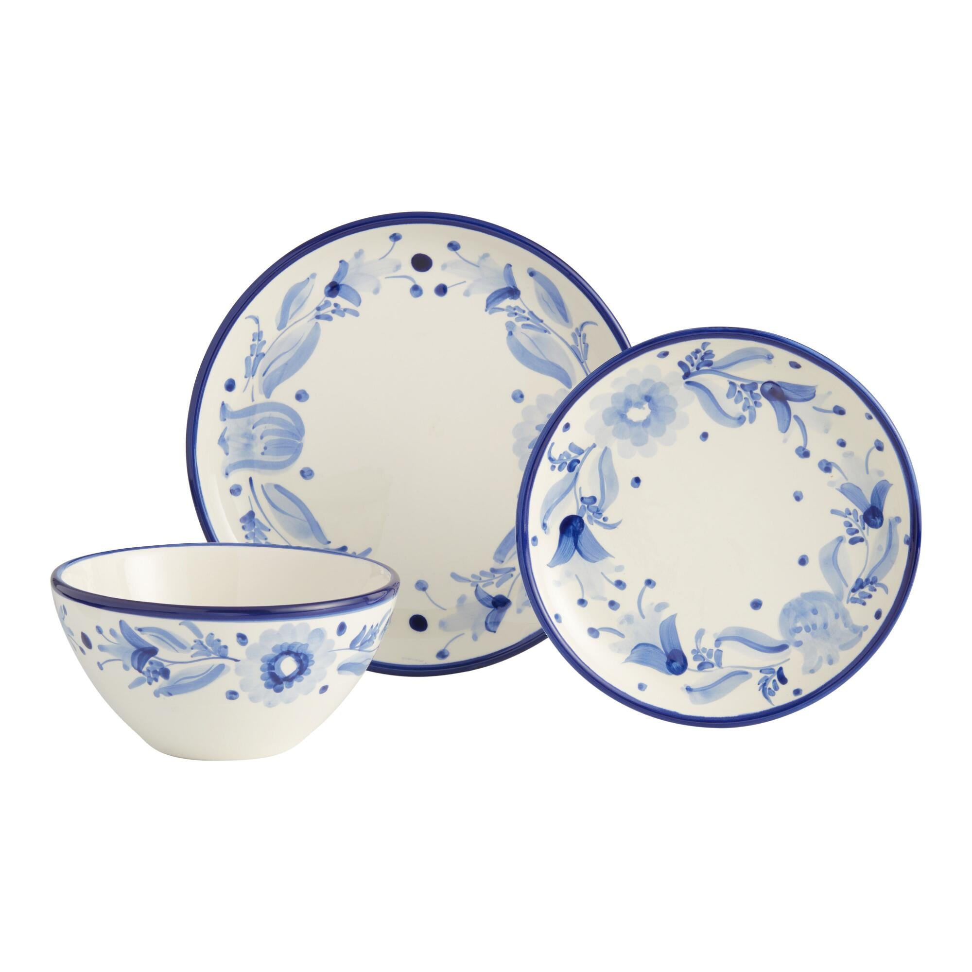 Blue and White Flor Azul Dinnerware Collection by World Market