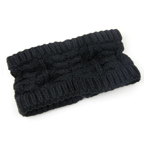 Black Knitted Ear Protector