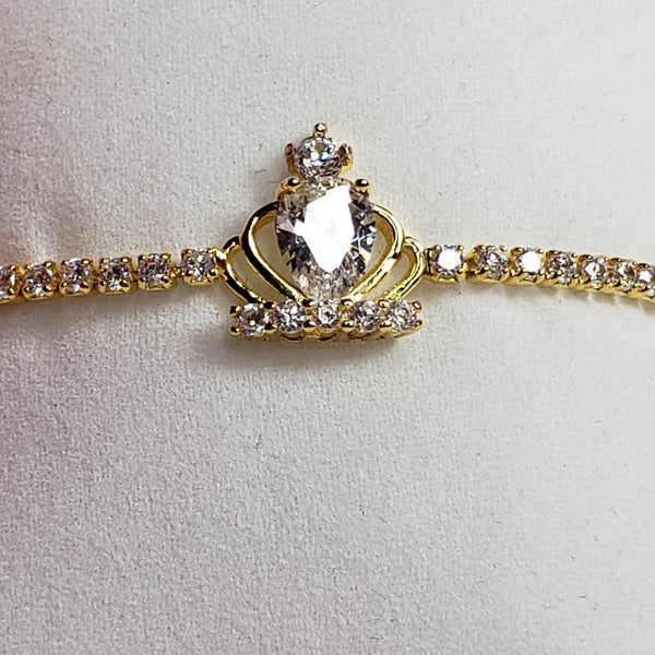 Adjustable Princess Crown Bracelet