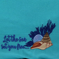Let the Sea set you Free Reading Pillow