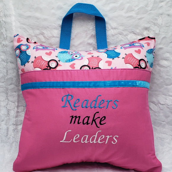 Readers Make Leaders Owl Reading Pillow