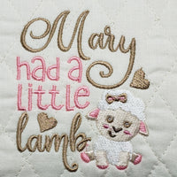 Mary Had A Little Lamb Reading Pillow