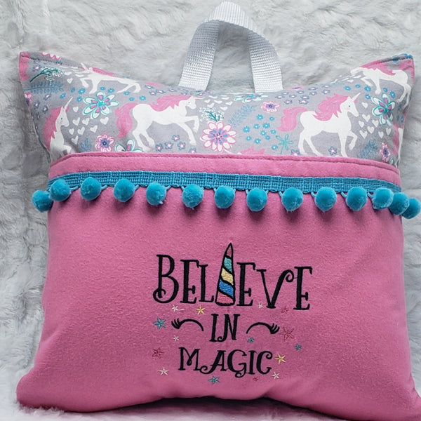 Believe In Magic Unicorn Reading Pillow