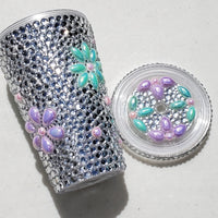 Flower Acrylic Bling Cup