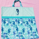Seahorse Run Reading Pillow