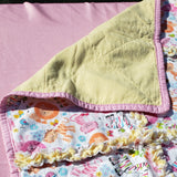 Bright Color Zoo Animal Rag Quilt