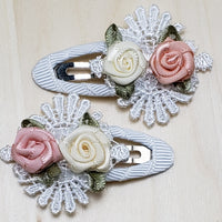 Floral Hair Clip - 2 pc set