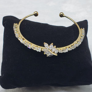 Leaf Bangle and Earring Set