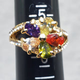 Multicolor Flower Ring