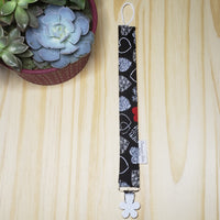 Heart Cotton Pacifier Clips