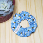 Bee Blues Scrunchie