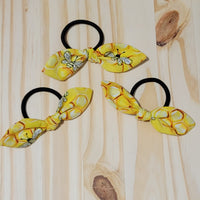 Small Honey Bee Removable Cotton Bow Hair Ties