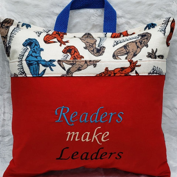Dinosaur Readers Make Leaders Reading Pillow
