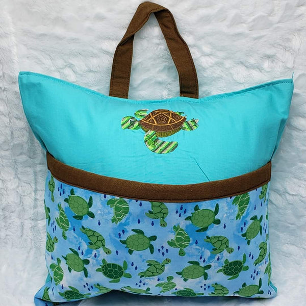 Turtle Love Reading Pillow