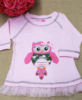 Army Owl Shirt with Tulle