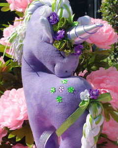 Purple Unicorn with Embellishments