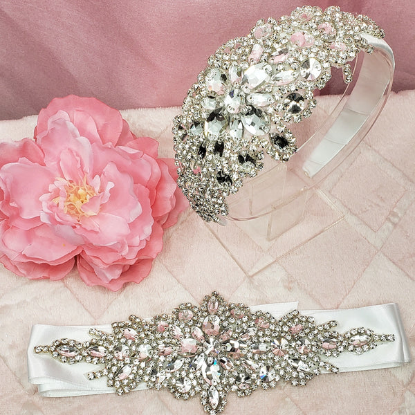 Rhinestone Headband & Belt