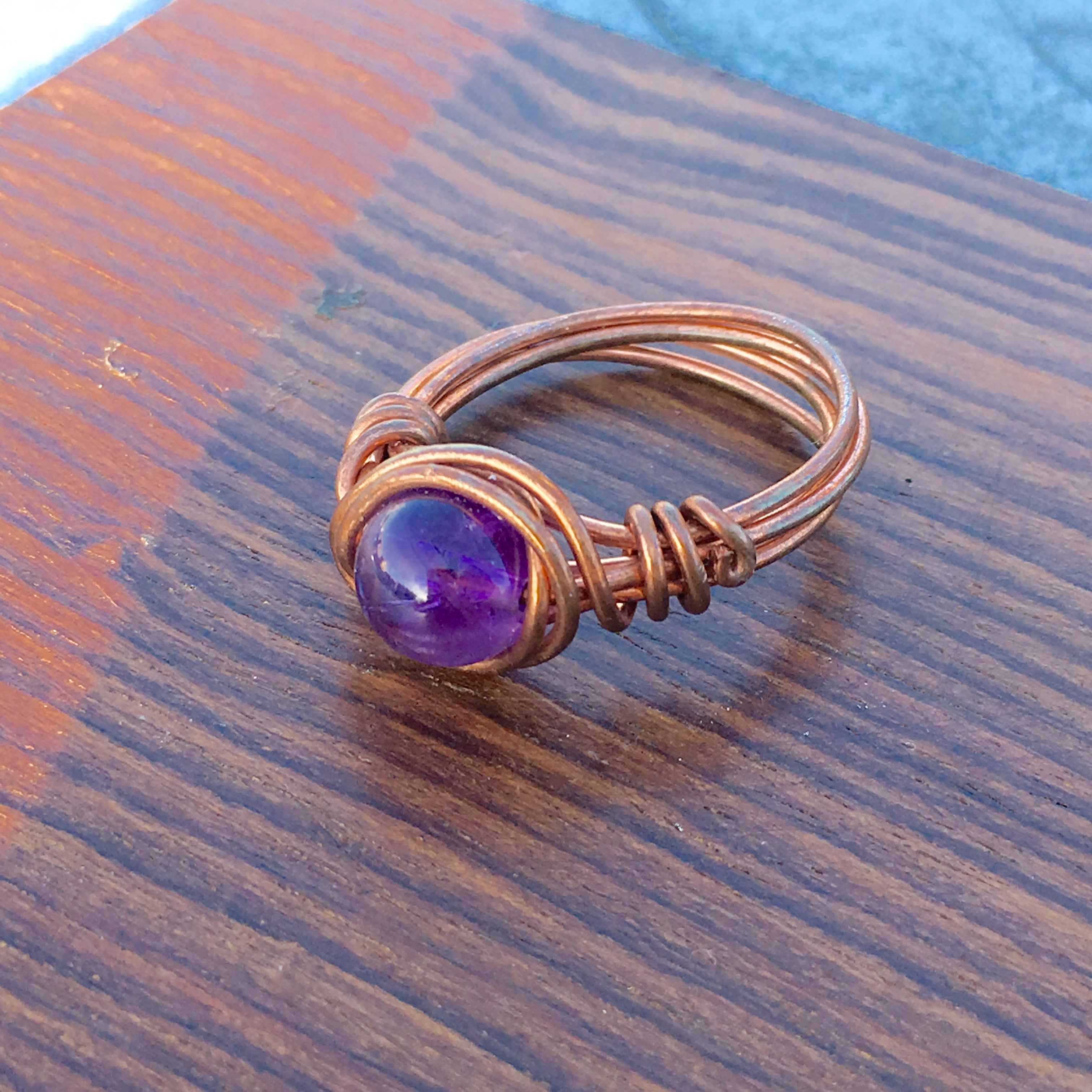 Amethyst Wire Wraped Ring
