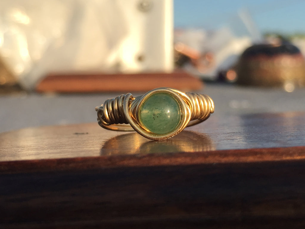 Green Adventurine Ring