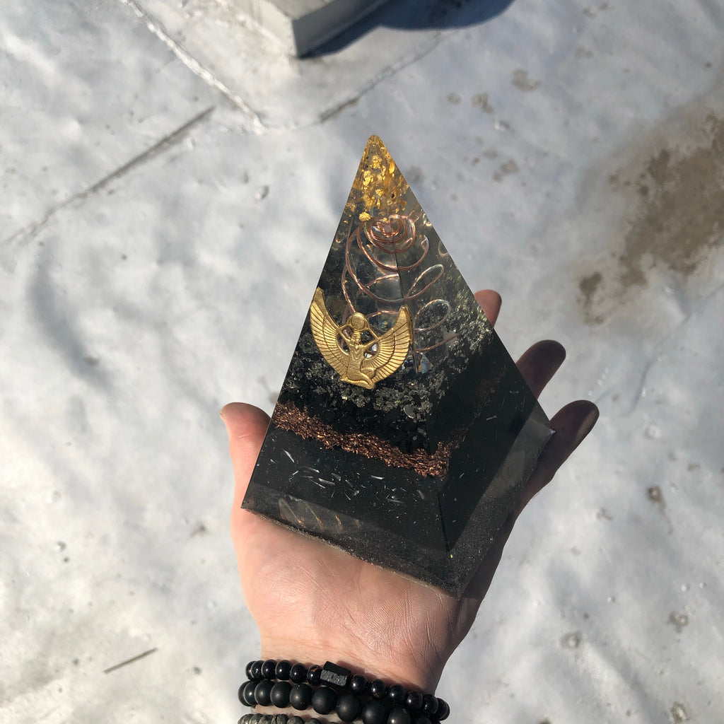 The Mother Shungite Orgone Pyramid