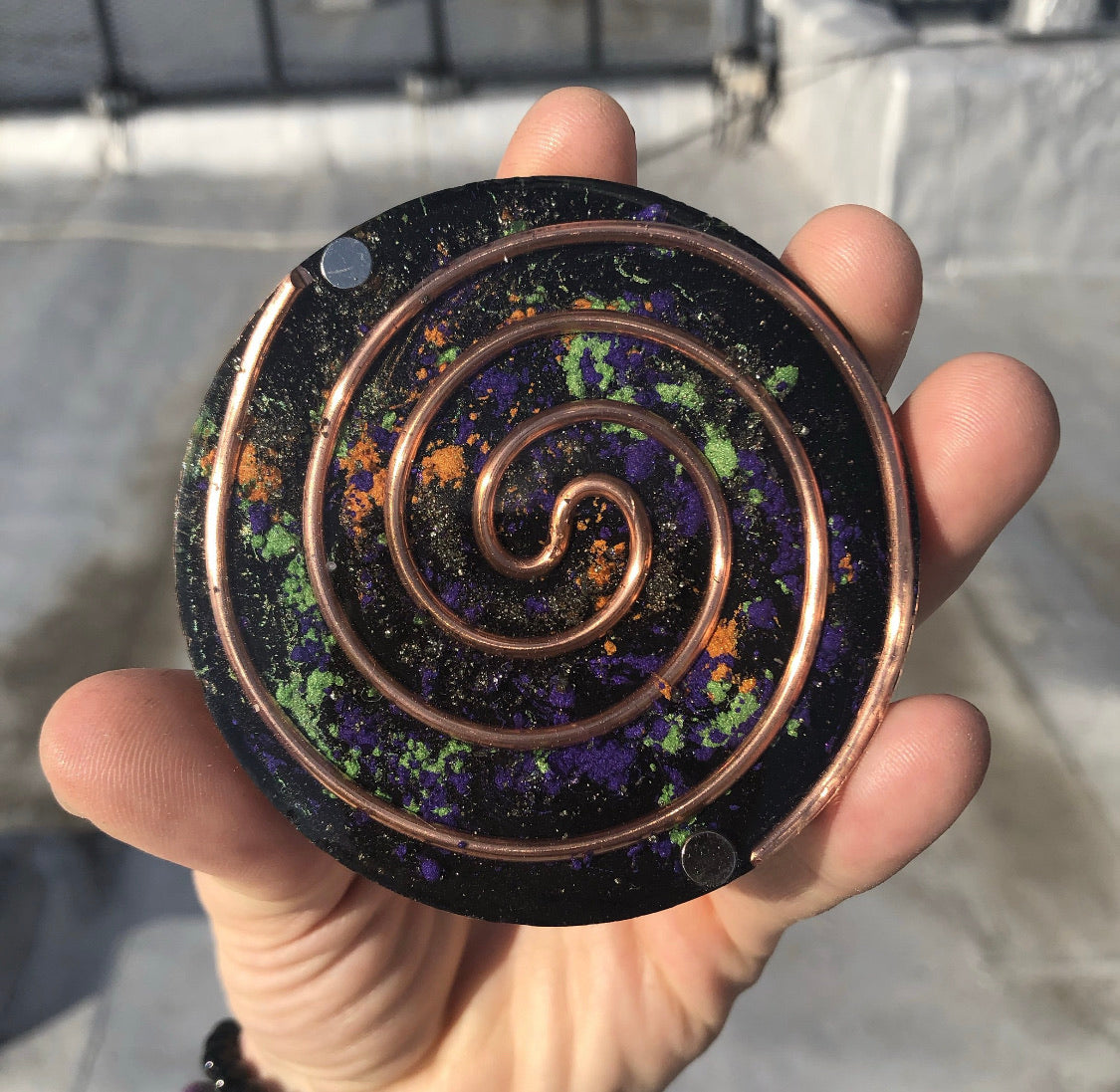 Orgone Charging Plate - Galaxy Edition - Sirius