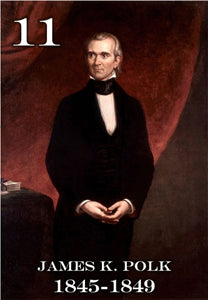 "11 JAMES K. POLK - 2X3"" FRIDGE MAGNET"