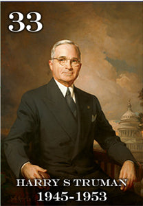 "33 HARRY S TRUMAN - 2X3"" FRIDGE MAGNET"