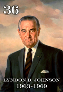 "36 LYNDON B. JOHNSON - 2X3"" FRIDGE MAGNET"