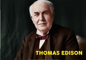 "THOMAS EDISON 02 - 2X3"" FRIDGE MAGNET"