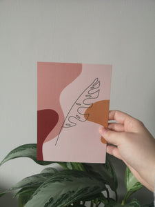 Monstera Leaves Postcard - lzysunday