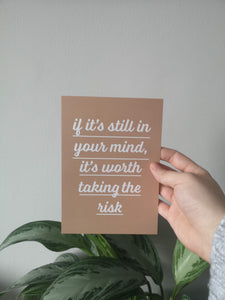 Take the Risk Postcard - lzysunday