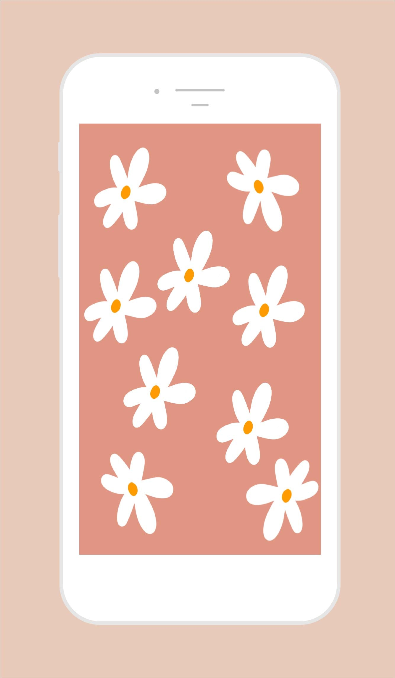 Snow Daisy Phone Wallpaper