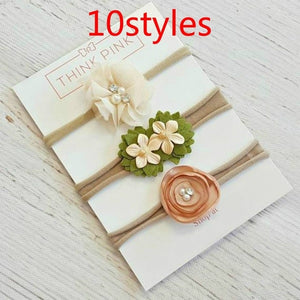 Fashion Newborn Baby Boy Flower Headband Small Bows Kids Accessories