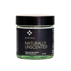 Kiriwai Natural Deodorants Naturally Unscented front label