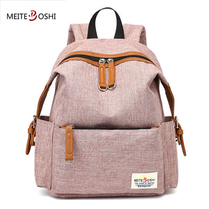 c23a9a8f45 MEITEBOSHI Female Casual Brand Vintage Canvas Backpack