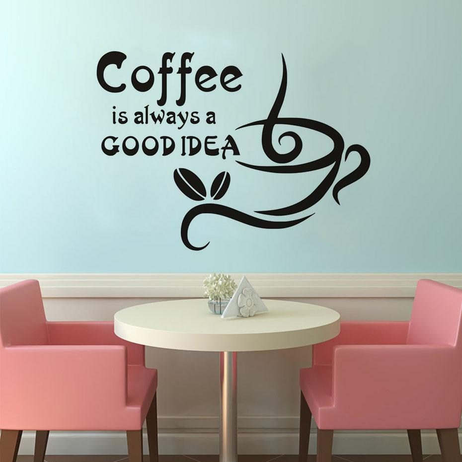 Double coffee cups wall stickers all things unique amipublicfo Images