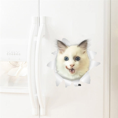Funny And Vivid Peeping Cat/Dog Sticker