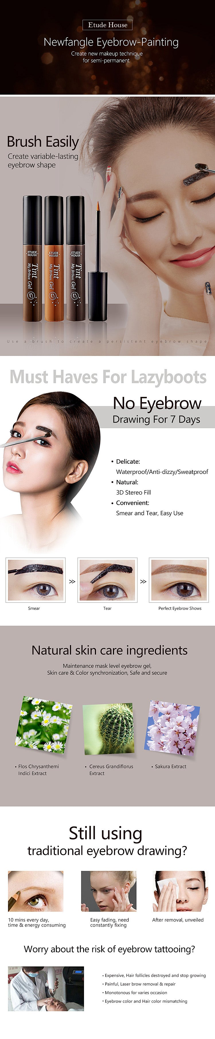 Buy 1 Get Freeetude House Waterproof Peel Off Eyebrow Gelcrazy Etude Drawing New Read Before Action Wanna Different Color Please Add Both Into Shopping Cart Discount Will Apply Automatically Otherwise Well Send The Same