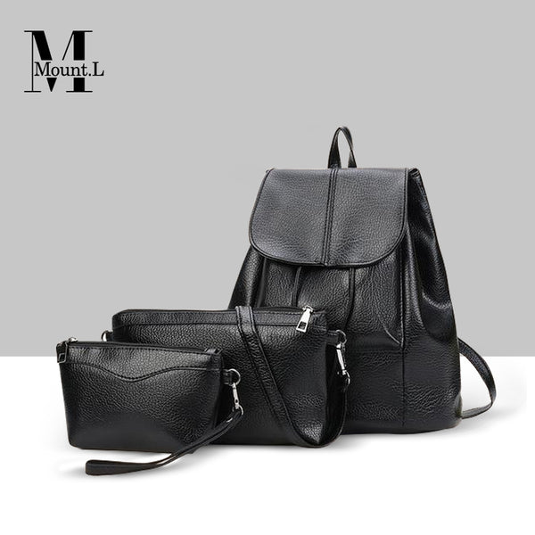 【New Arrival】2018 New South Korean Leather Bag Set【Ramadan Limited Sale】