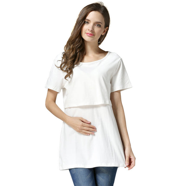 【New Year Discount Buy One Get One Free】Super Hot Loose & Comfortable Breastfeeding T-Shirt