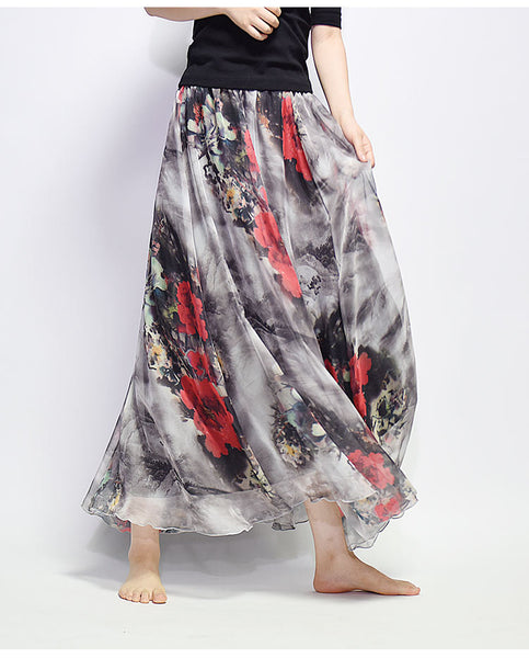 【New Arrival】Japan 2018 New Print Chiffon Dress