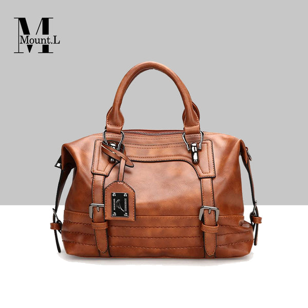 Fashion Mount. L Boston Style Buckle Handbag