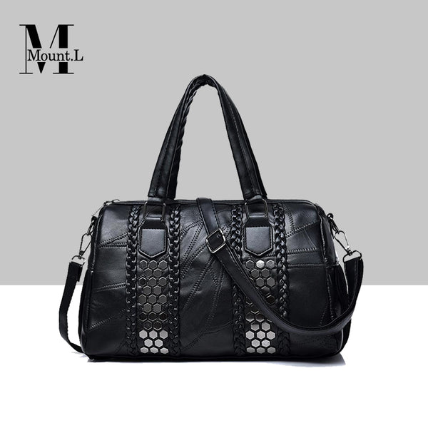 Europe Style Weave Rivet Trendy Handbag