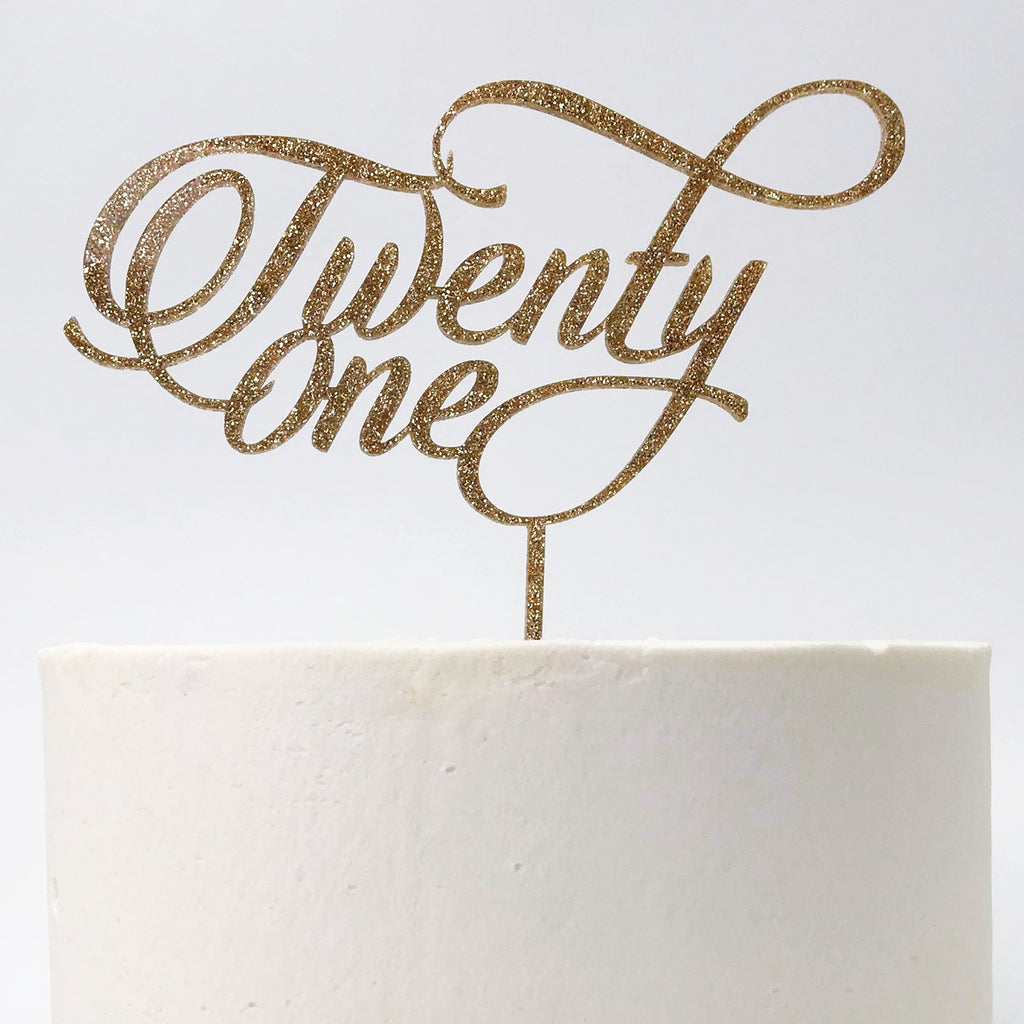 21st Twenty One Cake Topper