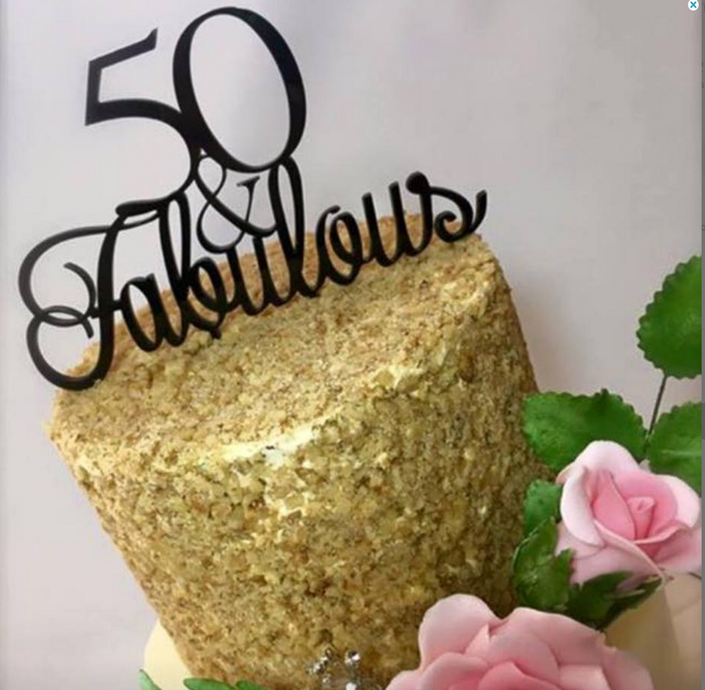 50 & Fabulous Birthday Cake Topper