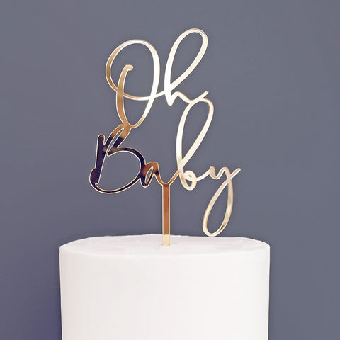Oh Baby, Baby Shower Cake Topper