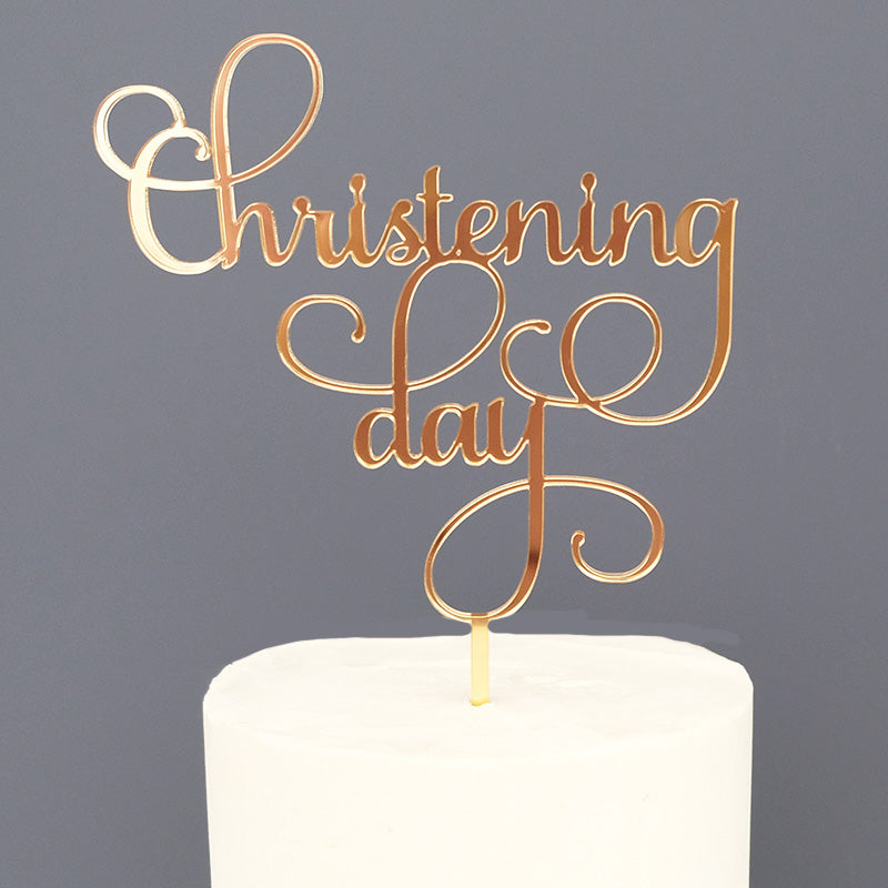Christening Day Cake Topper