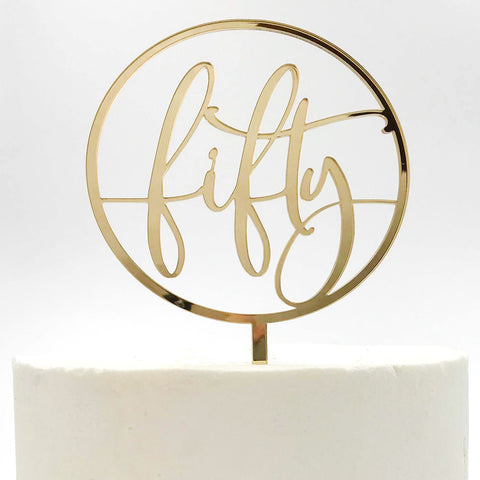 Fifty Birthday Cake Topper