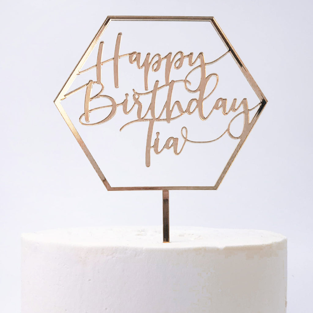 Personalised Happy Birthday Cake Topper